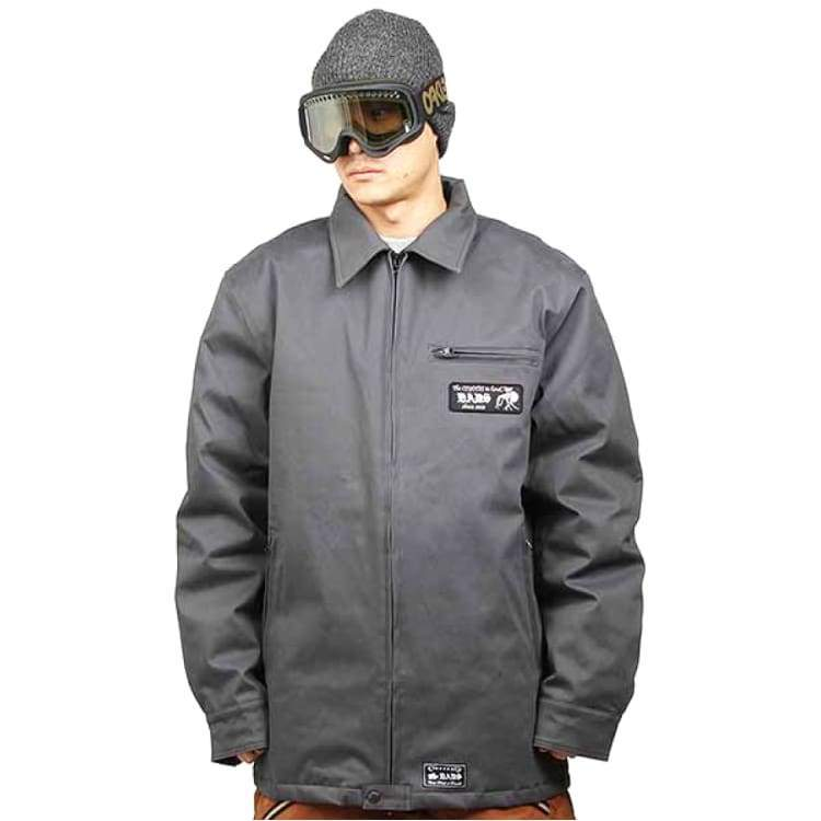 Jackets / Snow: Badass Service Blouson Jacket - Dark Grey - Badass / Dark Grey / Xl / Badass Clothing Dark Grey Ice & Snow Jackets |