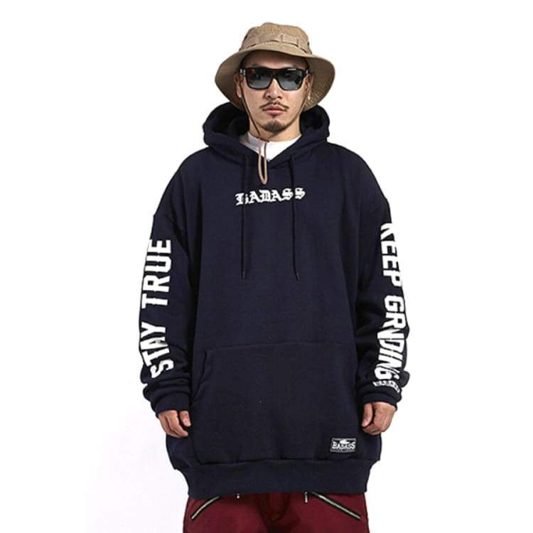 Hoodies & Sweaters: Badass Stern #2 Hood - Navy - Badass / Navy / Xlt / Badass Clothing Hoodies & Sweaters Ice & Snow Mens |