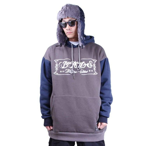 Hoodies & Sweaters: Badass Switch Hood - Charcoal/navy - Badass / Charcoal/navy / Xl / Badass Charcoal/navy Clothing Hoodies & Sweaters Ice