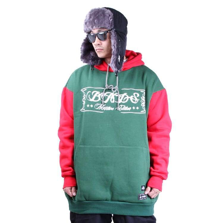 Hoodies & Sweaters: Badass Switch Hood - Moss/red - Badass / Moss/red / Xl / Badass Clothing Hoodies & Sweaters Ice & Snow Mens |