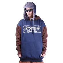 Hoodies & Sweaters: Badass Switch Hood -Navy/brown - Badass / Navy/brown / Xl / Badass Clothing Hoodies & Sweaters Ice & Snow Mens |
