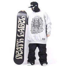 Hoodies & Sweaters: Badass Tatoo Crewneck - Grey - Badass Clothing Grey Hoodies & Sweaters Ice & Snow