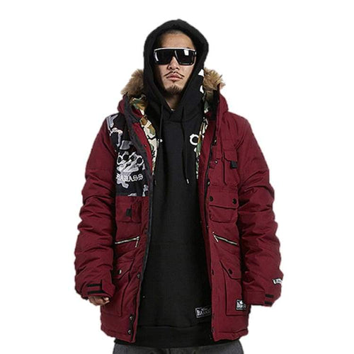 Jackets / Snow: Badass Team Padding Jacket - Burgundy - Badass / Burgundy / Xl / Badass Burgundy Clothing Ice & Snow Jackets |