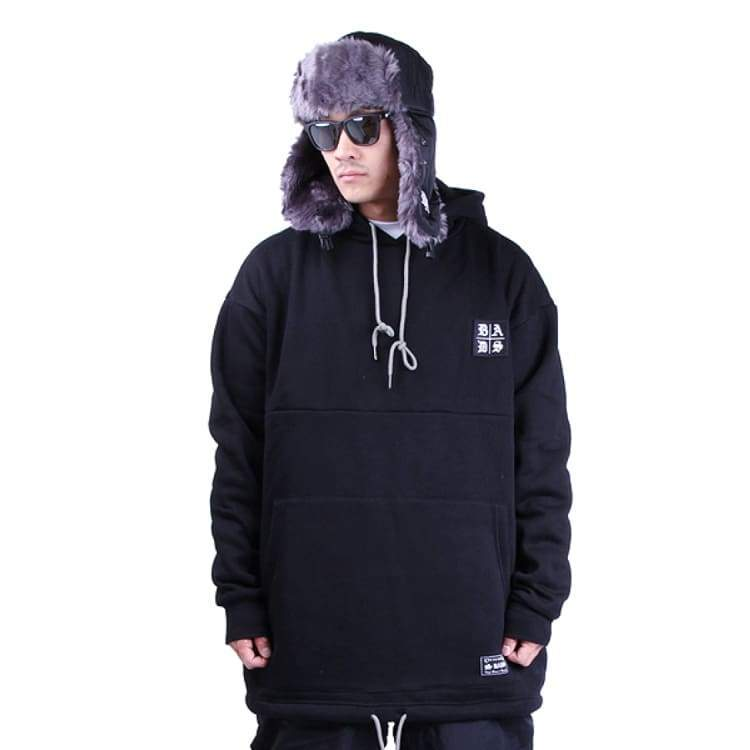 Hoodies & Sweaters: Badass Tube Hood - Black - Badass / Black / Xl / Badass Black Clothing Hoodies & Sweaters Ice & Snow |