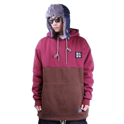 Hoodies & Sweaters: Badass Tube Hood - Burgundy/brown - Badass / Burgundy/brown / Xl / Badass Burgundy/brown Clothing Hoodies & Sweaters Ice