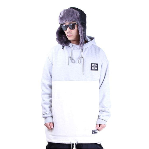 Hoodies & Sweaters: Badass Tube Hood - Grey/white - Badass / Grey/white / Xl / Badass Clothing Grey/white Hoodies & Sweaters Ice & Snow |