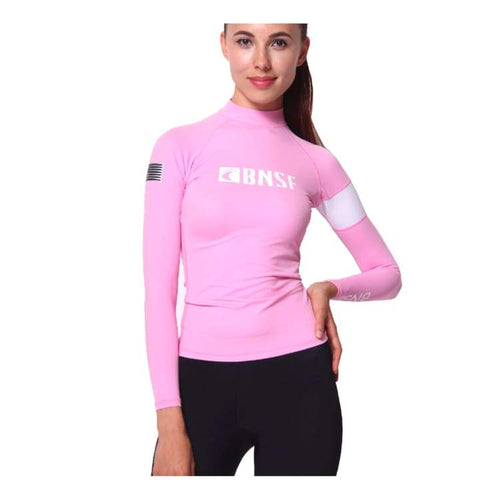 Rashguards & Tops: Banana Surf: Tidal Rashguard - Pink - Banana Surf / Xs / Pink / Banana Surf Clothing On Sale Pink Rashguards & Tops |