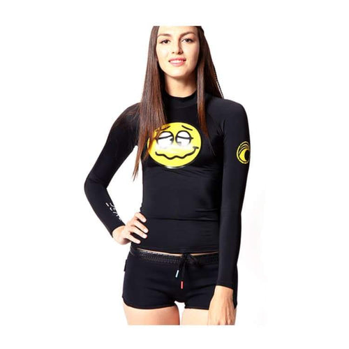 Rashguards & Tops: Banana Surf: Winki Rashguard - Black - Banana Surf / Xs / Black / Banana Surf Black Clothing On Sale Rashguards & Tops |