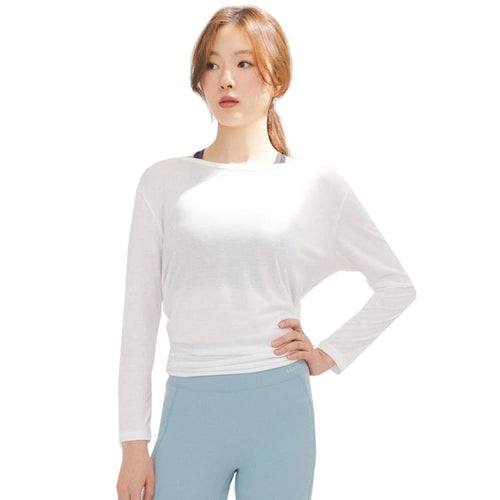 Barrel Fit Womens Back Ribbone L/S Tee-IVORY - Long Sleeves | BARREL HK