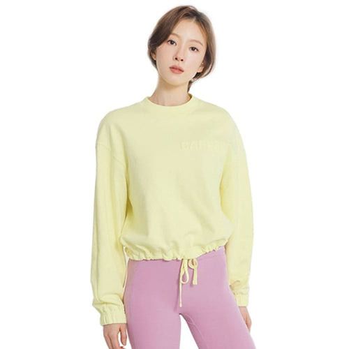 Barrel Fit Womens Cotton String MTM Sweater-PALE LEMON - Long Sleeves | BARREL HK
