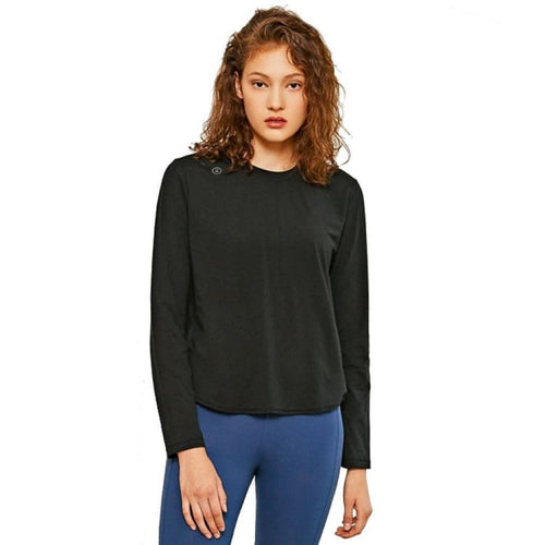 Barrel Fit Womens Cross Back L/S Tee-BLACK - Long Sleeves | BARREL HK