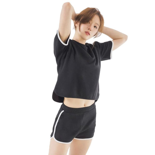 Barrel Fit Womens Easy Cotton S/S Tee-BLACK - Short Sleeves | BARREL HK