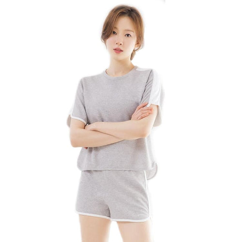 Barrel Fit Womens Easy Cotton S/S Tee-MELANGE GREY - Short Sleeves | BARREL HK