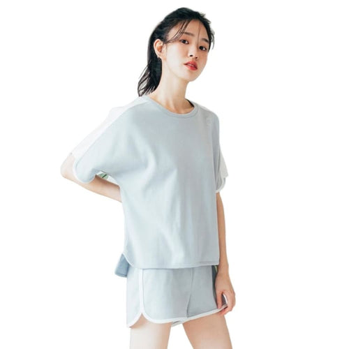 Barrel Fit Womens Easy Cotton S/S Tee-SKYBLUE - Short Sleeves | BARREL HK