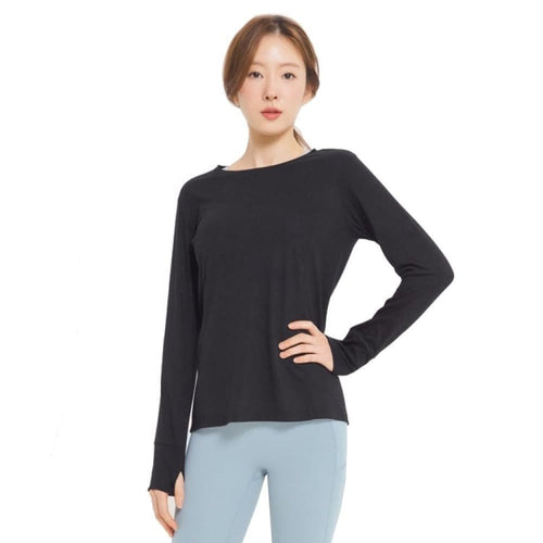 Barrel Fit Womens Easy L/S Tee-BLACK - Long Sleeves | BARREL HK