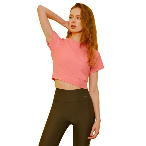 Tees / Short Sleeve: Barrel Fit Womens Free Lite Airy Crop S/S Tee-PINK - BARREL, BARREL HK, Barrel Fit, BRIV201201_HKOPT_10, Clothing |