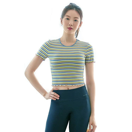Barrel Fit Womens Mellow S/S Tee-PINK STRIPE - Short Sleeves | BARREL HK