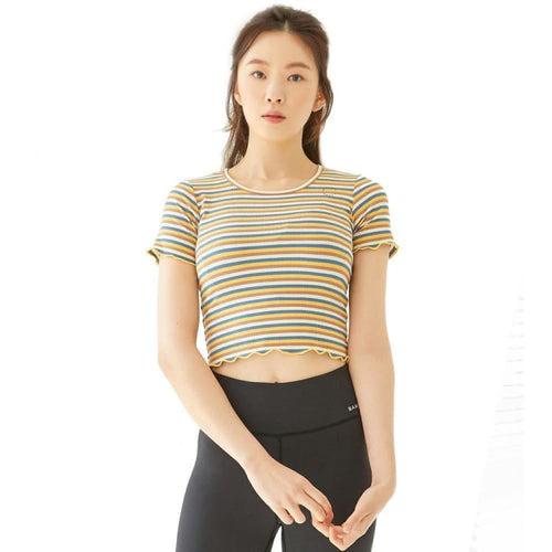 Barrel Fit Womens Mellow S/S Tee-YELLOW STRIPE - Short Sleeves | BARREL HK