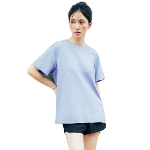 Barrel Fit Womens Semi Over S/S Tee-LIGHT BLUE - Short Sleeves | BARREL HK