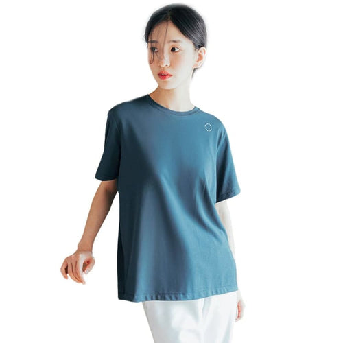 Barrel Fit Womens Semi Over S/S Tee-NEUTRAL BLUE - Short Sleeves | BARREL HK
