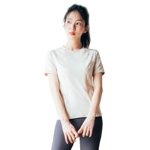 Barrel Fit Womens Slim S/S Tee-LIGHT BEIGE - Short Sleeves | BARREL HK
