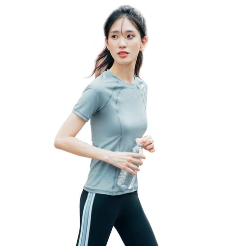 Barrel Fit Womens Slim S/S Tee-NEUTRAL BLUE - Short Sleeves | BARREL HK