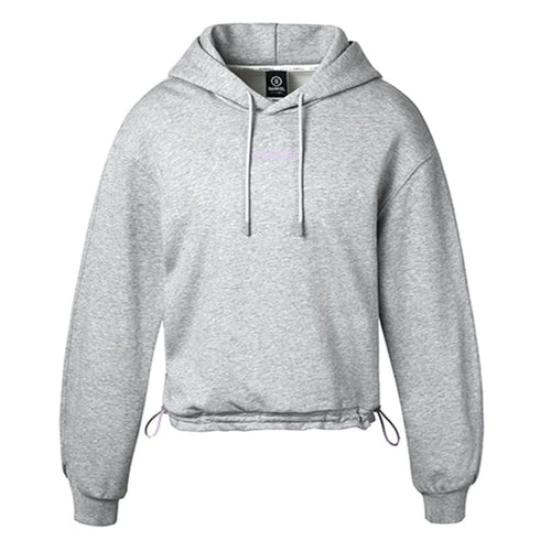 Barrel Fit Womens String Crop Hoodie-GREY - S / Grey - Fitness Hoodies & Sweaters | BARREL HK