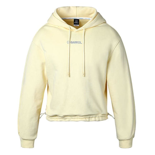 Barrel Fit Womens String Crop Hoodie-LEMON - S / Lemon - Fitness Hoodies & Sweaters | BARREL HK