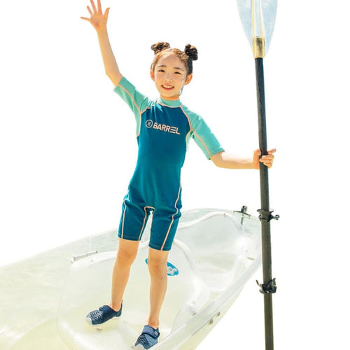 Wetsuits / Shorty: Barrel Kids 1mm Neoprene Spring Suit-LAGOON/MINT - 2019 BARREL BARREL HK Gear Kids | OCHK-BARREL-19BW7KNPO001-LMIN-S