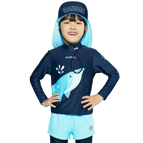 Barrel Kids Buddy Rashguard-DEEP NAVY - Rashguards | BARREL HK