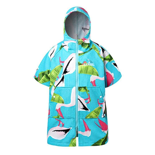 Barrel Kids Cozy Zip-Up Poncho Towel-PELICAN - Pelican / S - Poncho Towels | BARREL HK