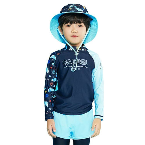 Barrel Kids Summer Rashguard-DEEP NAVY - Rashguards | BARREL HK