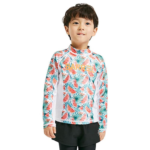 Barrel Kids Tommy Rashguard-WATERMELON/WHITE - Rashguards