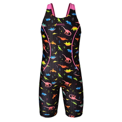 Barrel Kids Training Tech Swimsuit-NEON DINO - XS / Neon Dino - Swimsuits