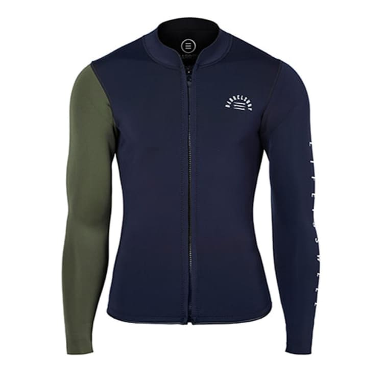 Barrel Mens 2mm Neoprene One Arm Jacket-D.NAVY/IVY - Dark Navy/Ivy / S - Tops