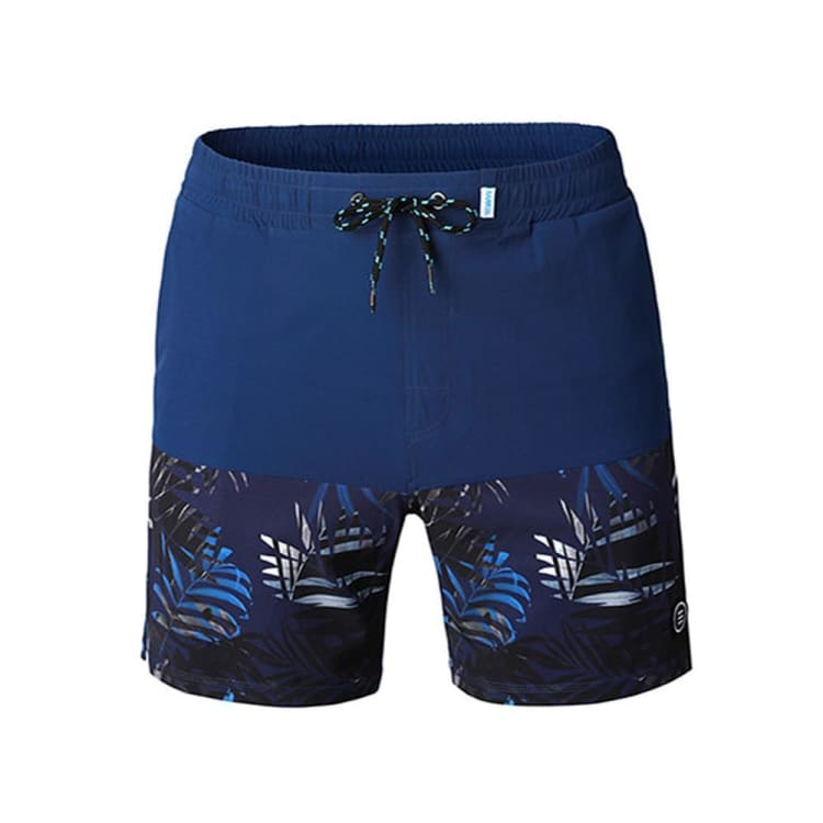 Barrel Mens Beach Pattern Boardshorts-NAVY/NAVY JUNGLE - M / Navy/ Navy Jungle - Boardshorts