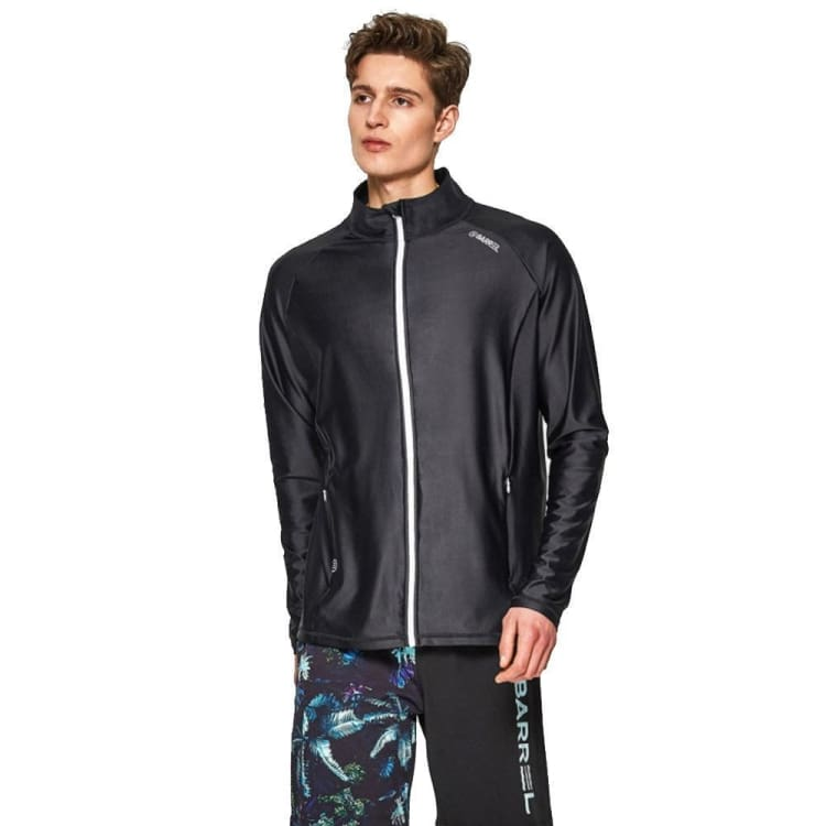 BARREL Mens Herry Loose Fit Zip Up Rashguard-BLACK - M / Black - Rashguards | BARREL HK