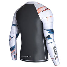 Barrel Mens Kua Pattern Zip-Up Rashguard-DARK GREY - Rashguards | BARREL HK
