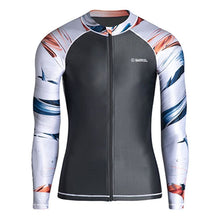 Barrel Mens Kua Pattern Zip-Up Rashguard-DARK GREY - M / Dark Grey - Rashguards | BARREL HK