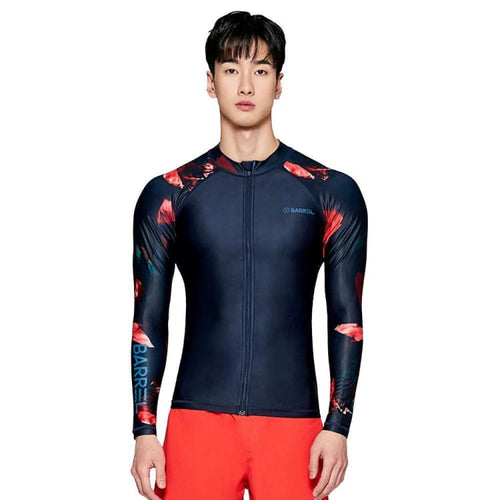 Barrel Mens Kua Pattern Zip-Up Rashguard-DEEP NAVY - Rashguards | BARREL HK