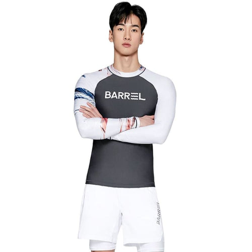 Barrel Mens Odd Rashguard-DARK GREY - Rashguards | BARREL HK