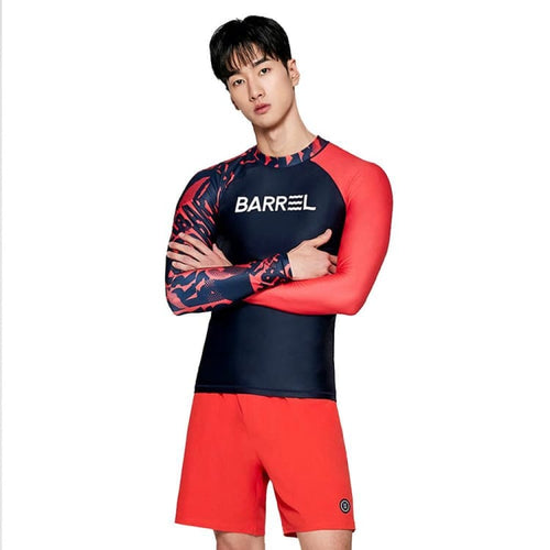 Barrel Mens Odd Rashguard-TOMATO - Rashguards | BARREL HK