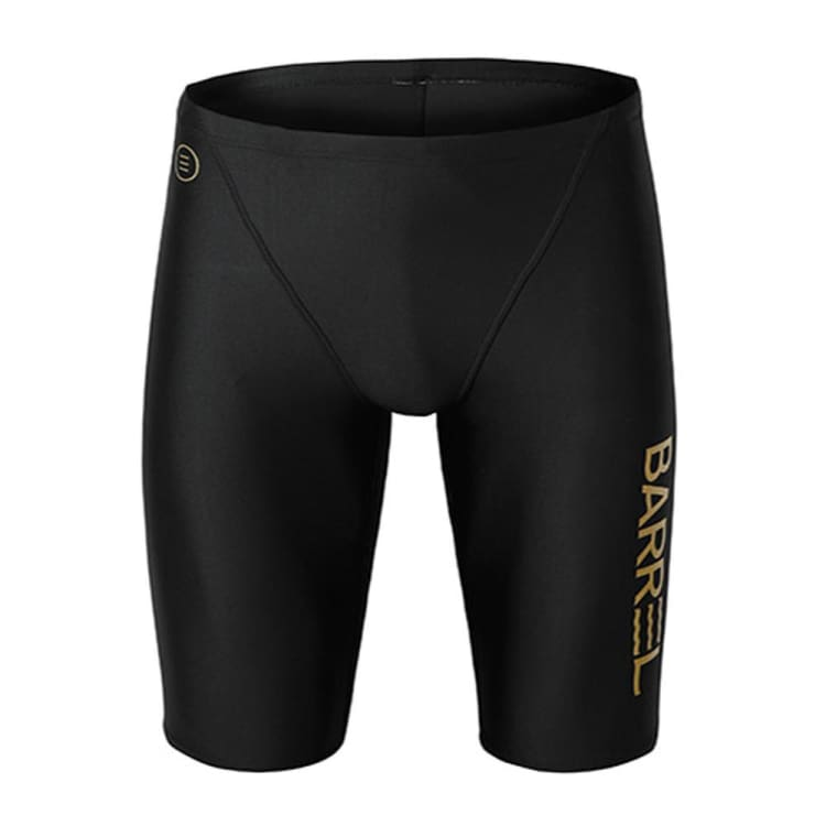 Barrel Mens Racing Fit Jammer Swimsuit-BLACK - S / Black - Swimsuits