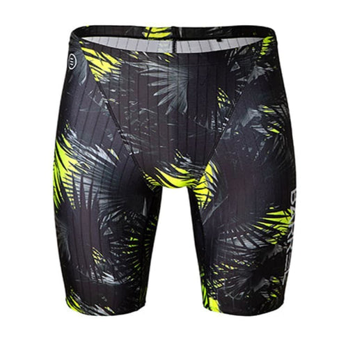 Barrel Mens Training Fit Pattern Jammer Swimsuit-NEON FARM - S / Neon Palm - Swimsuits