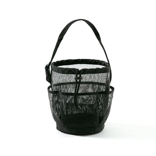 Barrel Mesh Shower Tote Bag-BLACK - Black - Mesh Bags | BARREL HK