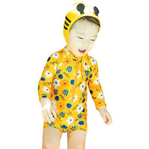 Barrel Toddler Rash Suit Set-HELLO FLOWER - S / Hello Flower - Rash Suit Sets