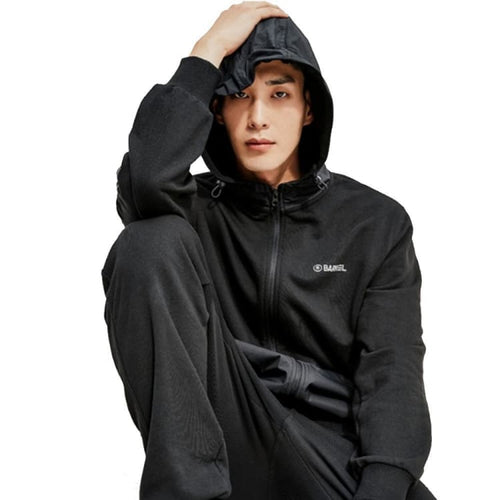 BARREL Unisex Combi Hoodie Zip Up-BLACK - S / Black - Hoodies & Sweaters | BARREL HK