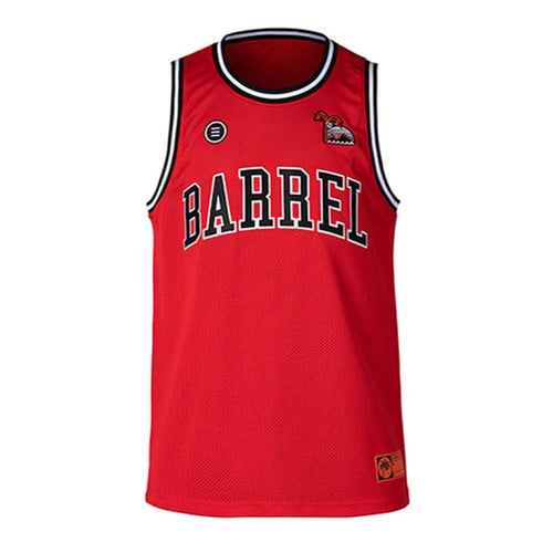 Barrel Unisex Mesh Jersey Sleeveless-RED - S-M / Red / BARREL - Tanks