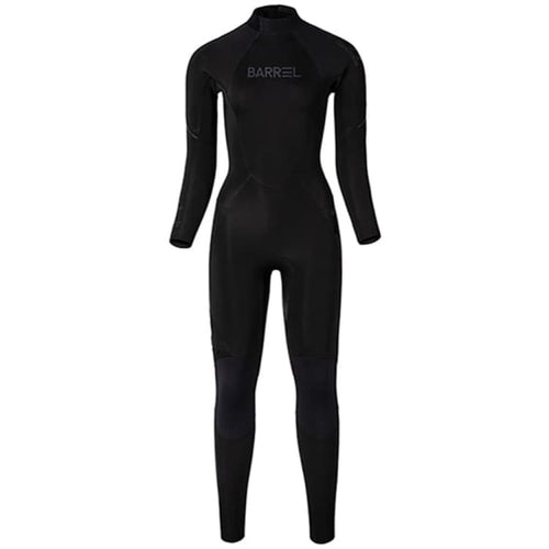 Barrel Womens 3mm Neoprene Back Zip Full Suit-BLACK - Black / S - Fullsuits | BARREL HK