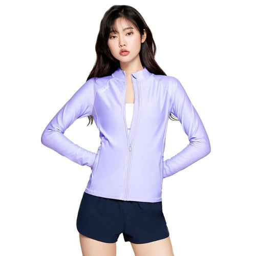 Barrel Womens Shelly Zip-Up Rashguard-PALE PURPLE - Rashguards | BARREL HK